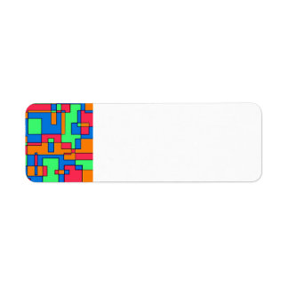 Abstract squares label