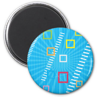 Abstract squares magnet