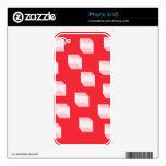 Abstract Squares on Red Skins For iPhone 4