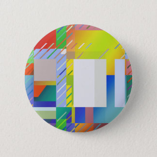 Abstract Squares Pinback Button