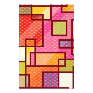 Abstract Squares Pop Art Stationery
