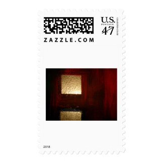 Abstract Squares Postage
