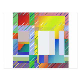 Abstract Squares Postcard