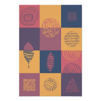 Abstract Squares Shapes and Patterns 1 Poster