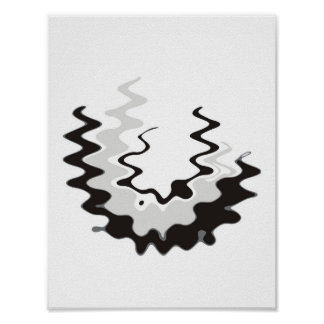 Abstract Squiggle Scoop Poster