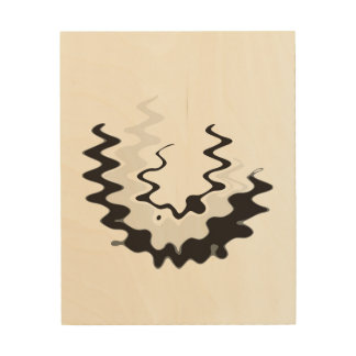 Abstract Squiggle Scoop Wood Wall Decor