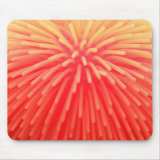 Abstract Squishy Ball Toy Red Orange Glow Mouse Pad