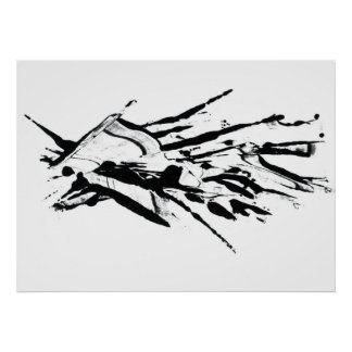 abstract stain poster