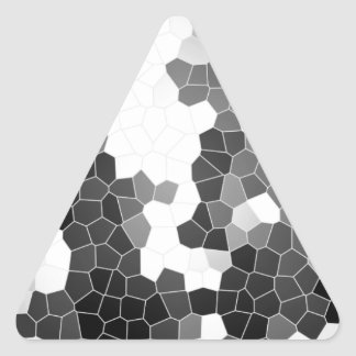 Abstract Stained Glass Black White Grey Mosaic Triangle Sticker