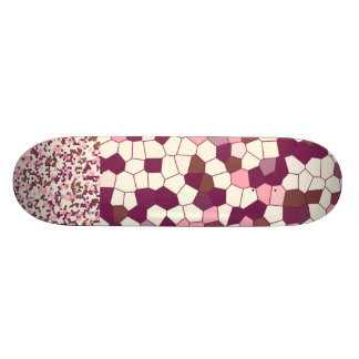 Abstract Stained Glass Blueberry Cheesecake Mosaic Skateboard
