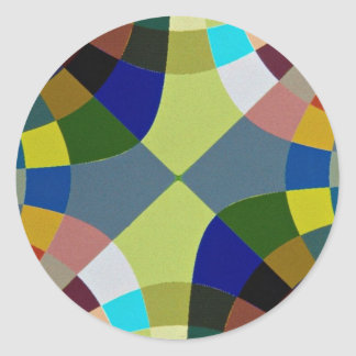 Abstract Stained glass Classic Round Sticker