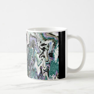 Abstract Stained Glass Classic White Coffee Mug