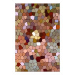 Abstract Stained Glass Copper Silver Metal Coins Custom Stationery