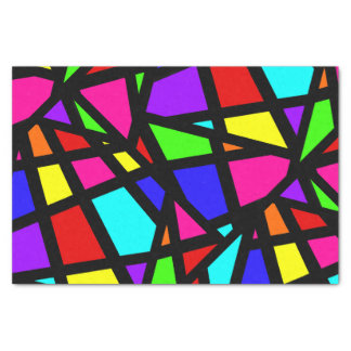 Abstract Stained Glass Geometric Tissue Paper