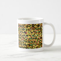 Abstract Stained Glass Gold Pink Green Mosaic Coffee Mug