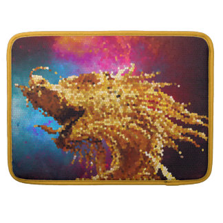 Abstract Stained Glass Golden Dragon Galaxy Mosaic Sleeve For MacBooks