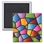 Abstract Stained Glass Magnet