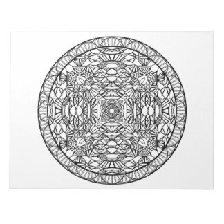 Abstract Stained Glass Mandala Pattern Color Book Notepad