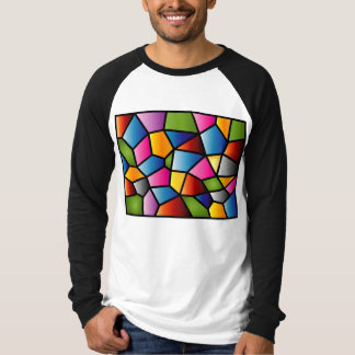 Abstract Stained Glass Men's long sleeved top