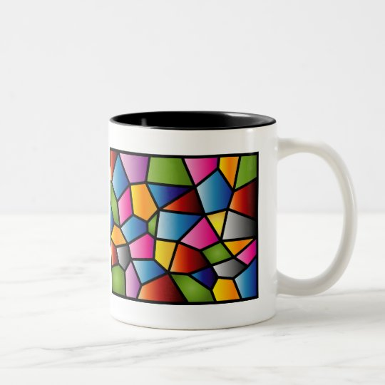 Abstract Stained Glass Mug