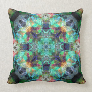 Abstract Stained Glass Throw Pillows
