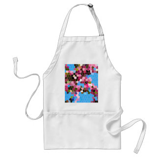 Abstract Stained Glass Pink Dark Green Blue Mosaic Adult Apron