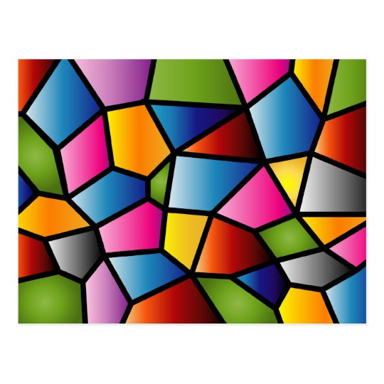Abstract Stained Glass Postcard