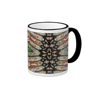 Abstract Stained Glass Ringer Mug