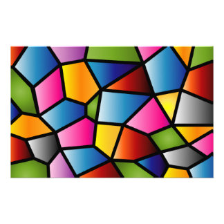 Abstract Stained Glass Stationary Stationery