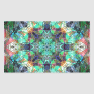 Abstract Stained Glass Rectangular Sticker