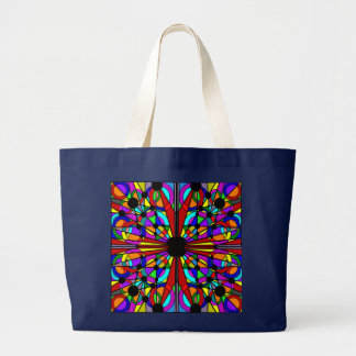 Abstract Stained Glass Tote2 Large Tote Bag