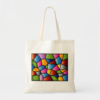 Abstract Stained Glass Tote Budget Tote Bag