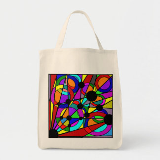 Abstract Stained Glass Tote Canvas Bag