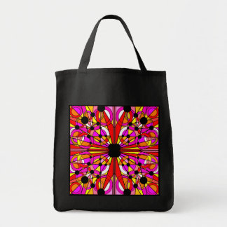Abstract Stained Glass Tote Pink Canvas Bags