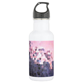 Abstract Stained Glass Winter Sunset Trees Mosaic Stainless Steel Water Bottle