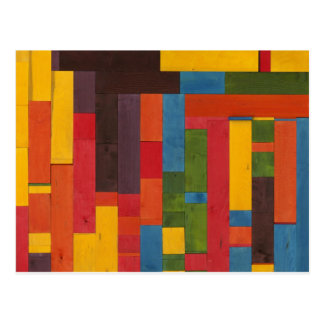 Abstract Stained Wood Postcard