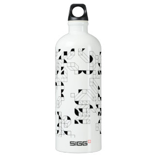Abstract Stamp Aluminum Water Bottle