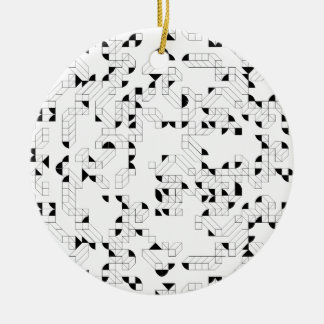 Abstract Stamp Ceramic Ornament