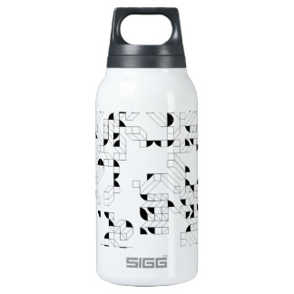 Abstract Stamp Insulated Water Bottle