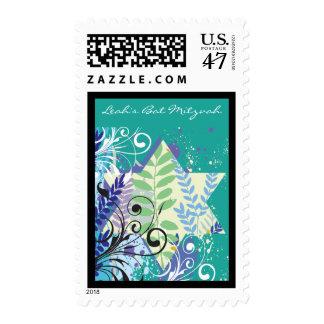 ABSTRACT STAR Bat Mitzvah Customizable Stamp