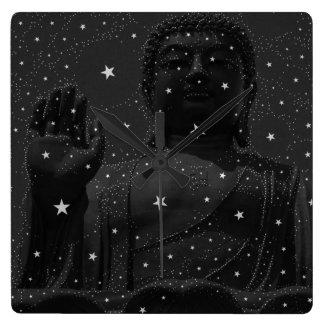 abstract  star constellations Praying Buddha Zen Wall Clocks
