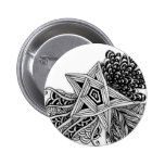 Abstract star design pinback button