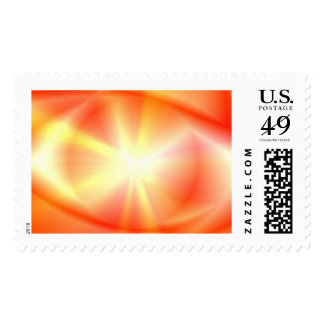 Abstract Star & Halo Postage Stamp