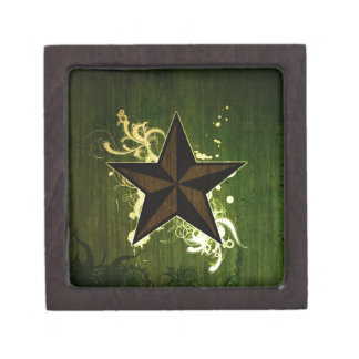 Abstract Star Jewelry Box