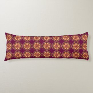 Abstract Star Mosaic Body Pillow
