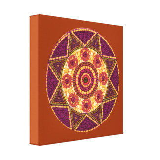 Abstract Star Mosaic Stretched Canvas Prints