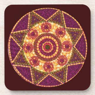 Abstract Star Mosaic Coaster