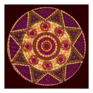 Abstract Star Mosaic Posters