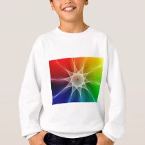Abstract Star Pattern Sweatshirt