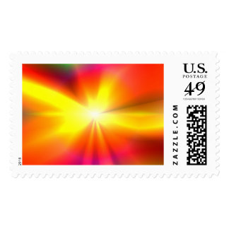 Abstract Star Postage Stamp